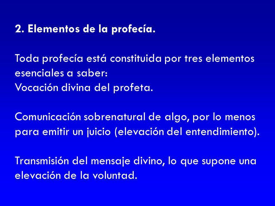 2. Elementos de la profecía.