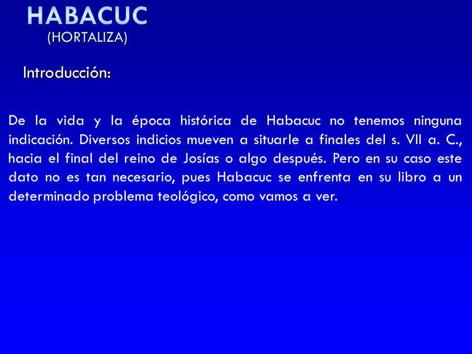 HABACUC Introducción: (HORTALIZA)