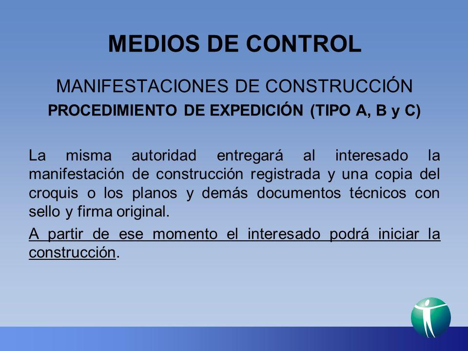 PROCEDIMIENTO DE EXPEDICIÓN (TIPO A, B y C)