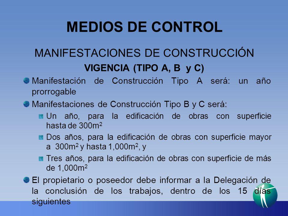 MANIFESTACIONES DE CONSTRUCCIÓN