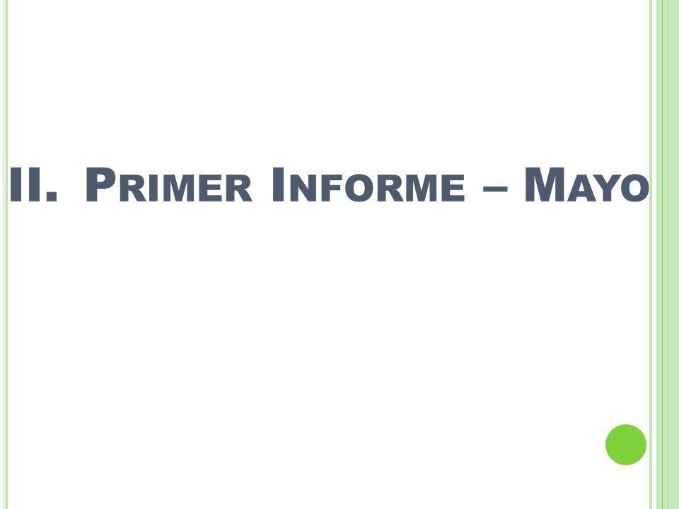 Primer Informe – Mayo