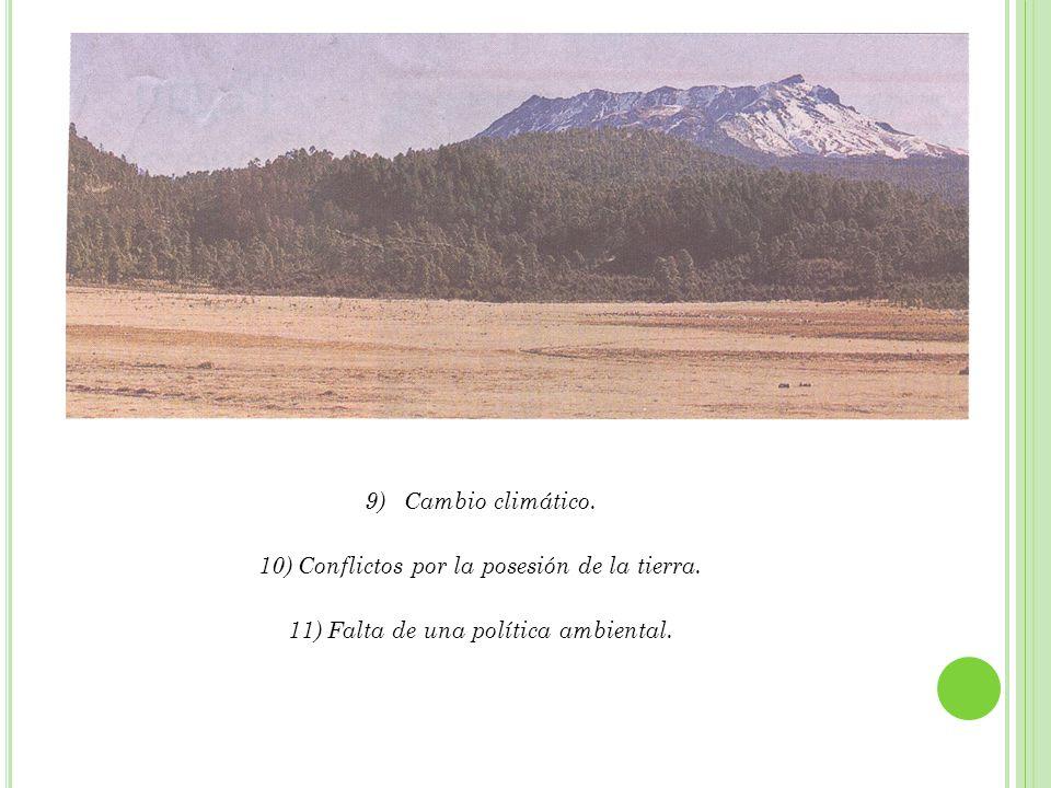 Conflictos por la posesión de la tierra.