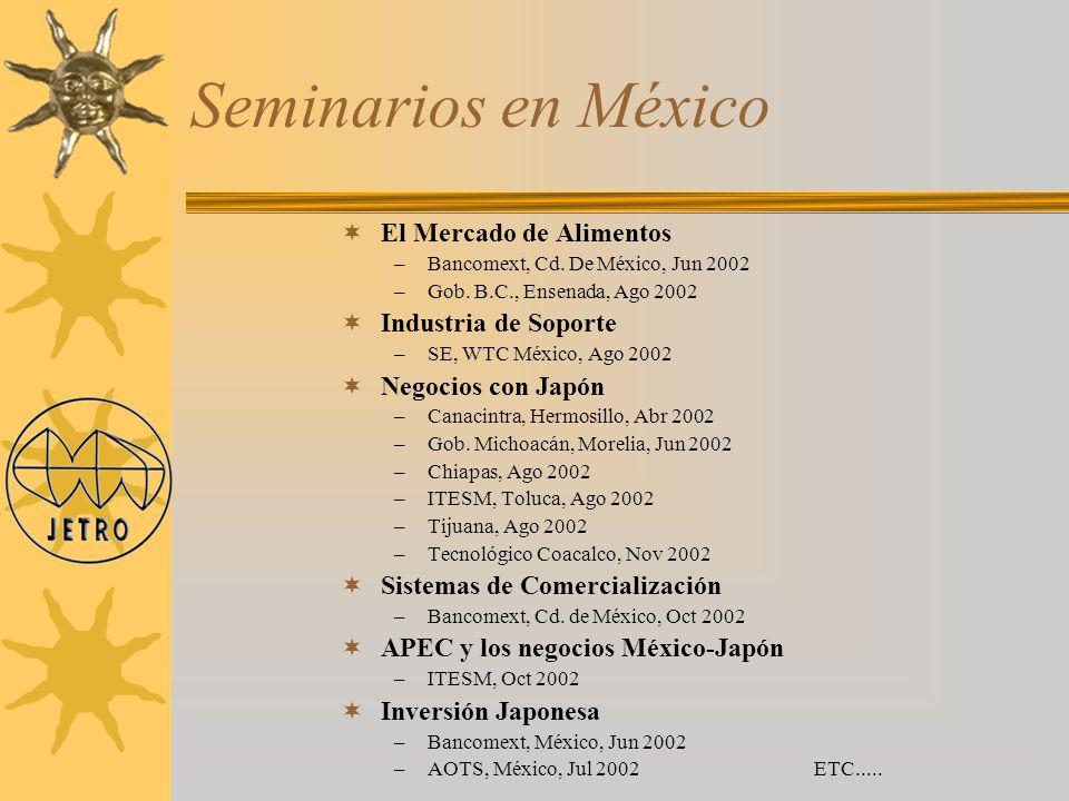 Seminarios en México El Mercado de Alimentos Industria de Soporte