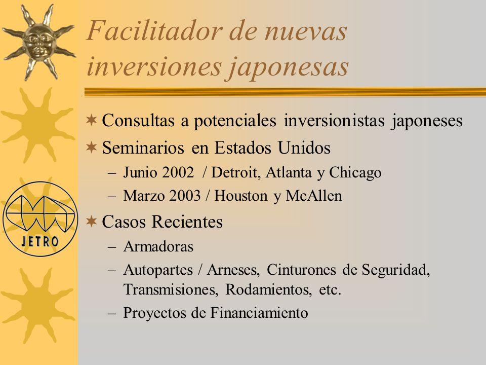 Facilitador de nuevas inversiones japonesas