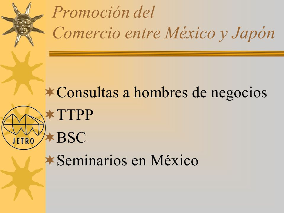 Promoción del Comercio entre México y Japón