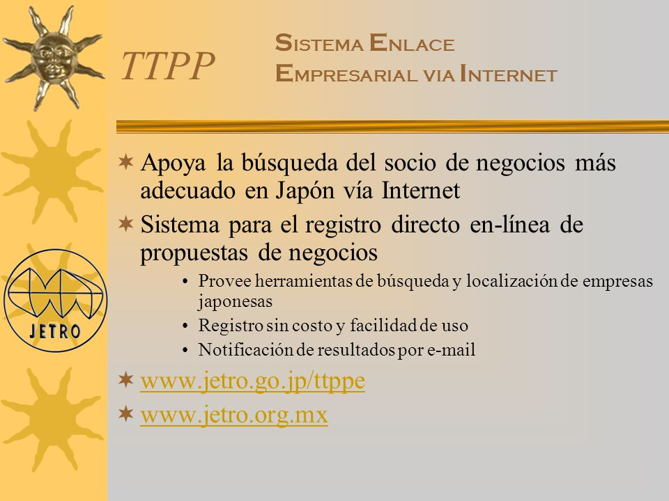 TTPP SISTEMA ENLACE EMPRESARIAL VIA INTERNET