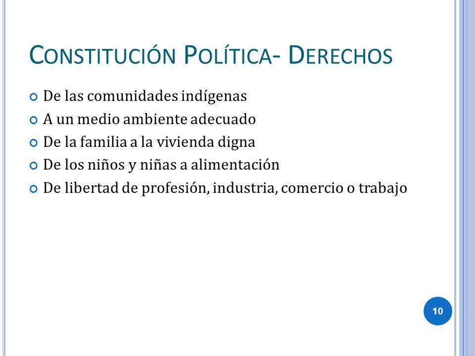 Constitución Política- Derechos