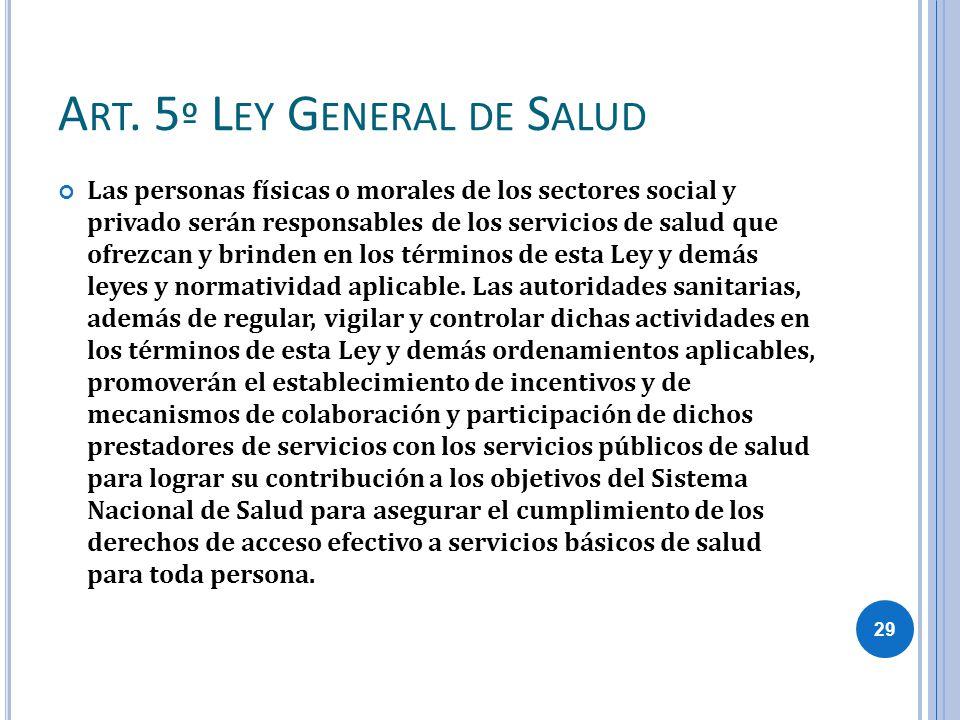 Art. 5º Ley General de Salud