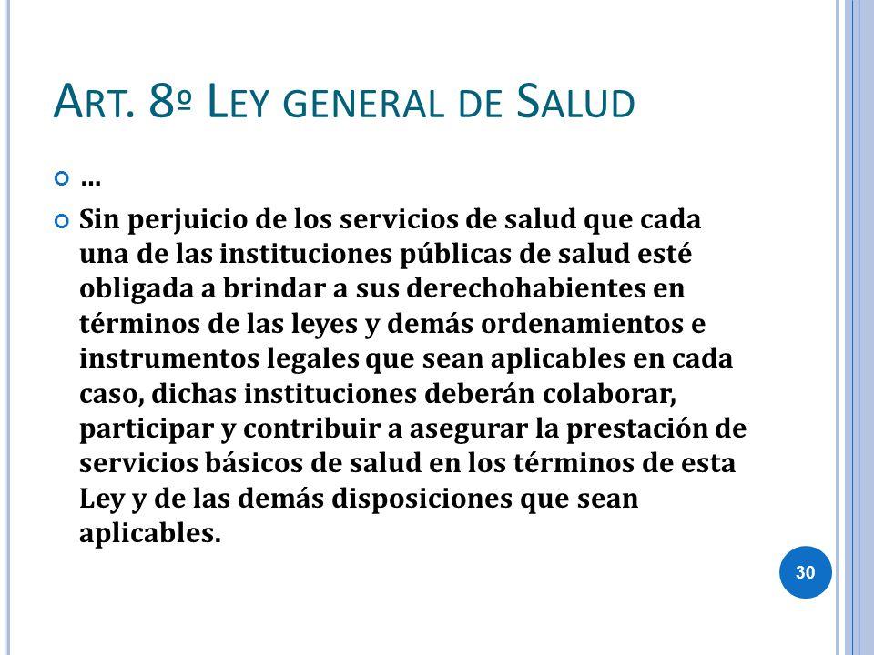 Art. 8º Ley general de Salud