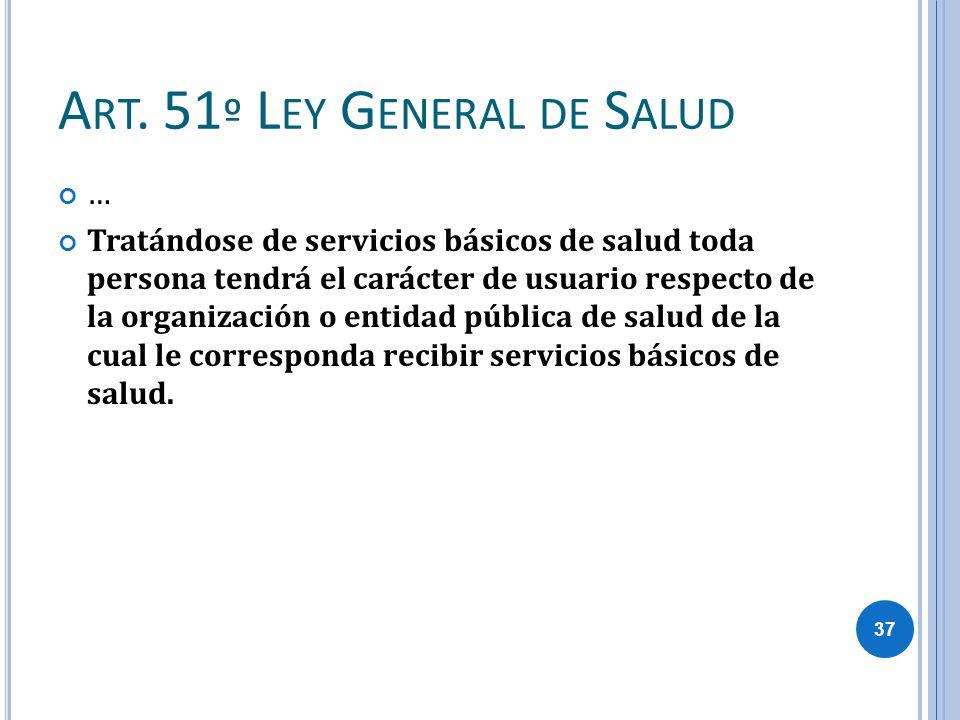 Art. 51º Ley General de Salud
