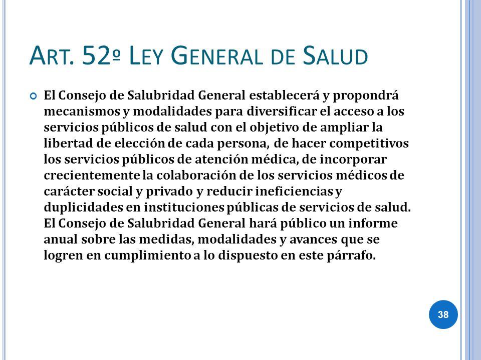 Art. 52º Ley General de Salud
