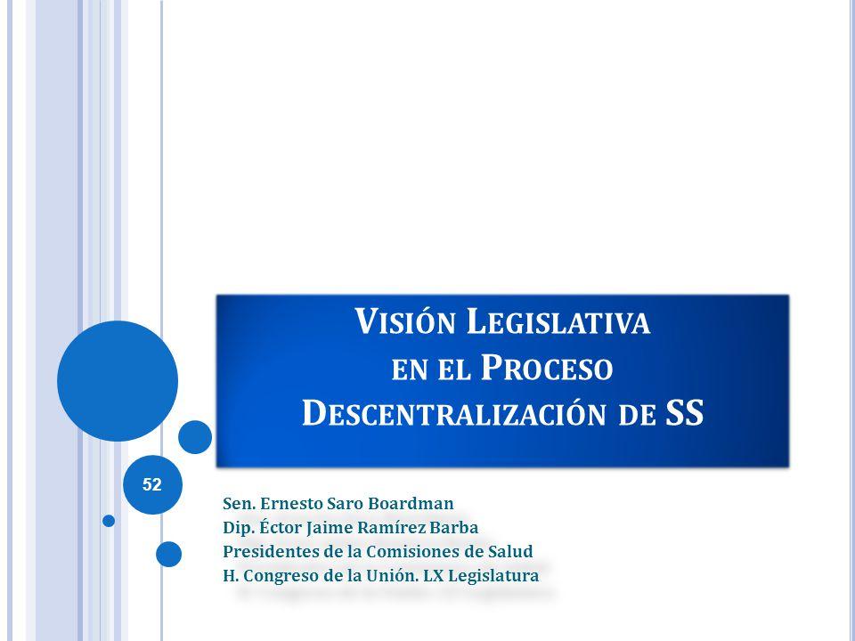 Visión Legislativa en el Proceso Descentralización de SS
