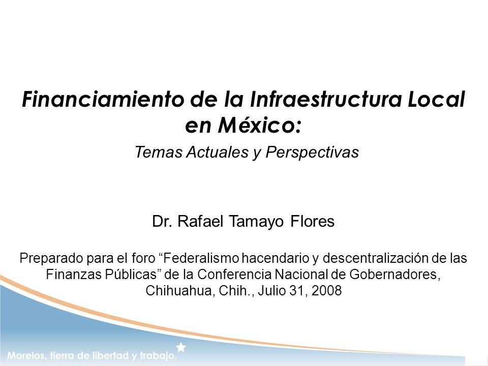 Financiamiento de la Infraestructura Local en México: Temas Actuales y Perspectivas Dr.