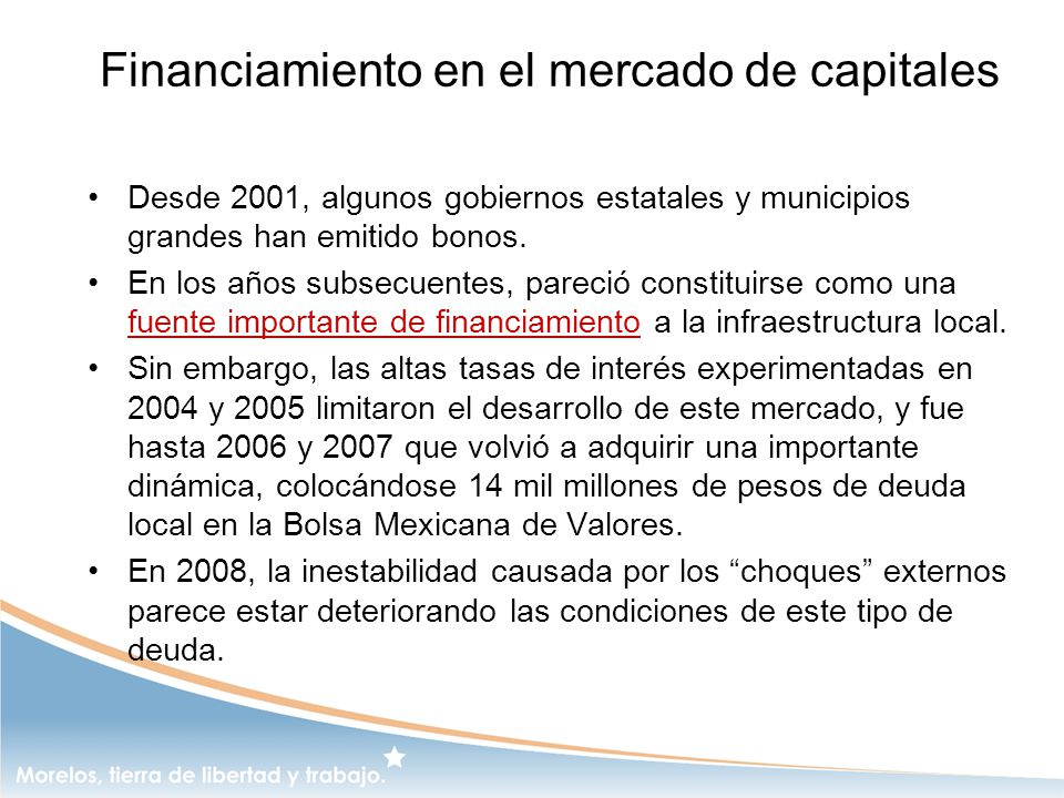 Financiamiento en el mercado de capitales