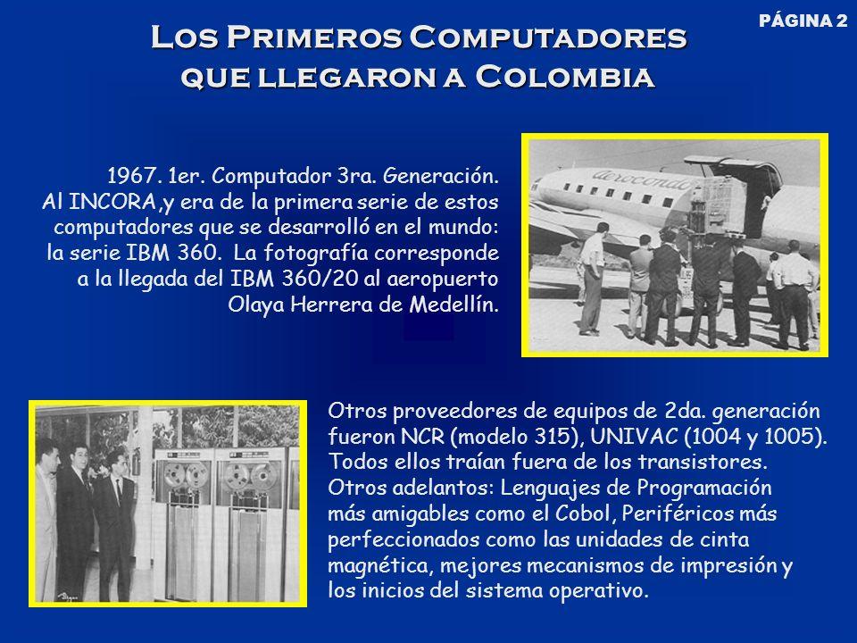 Los Primeros Computadores que llegaron a Colombia