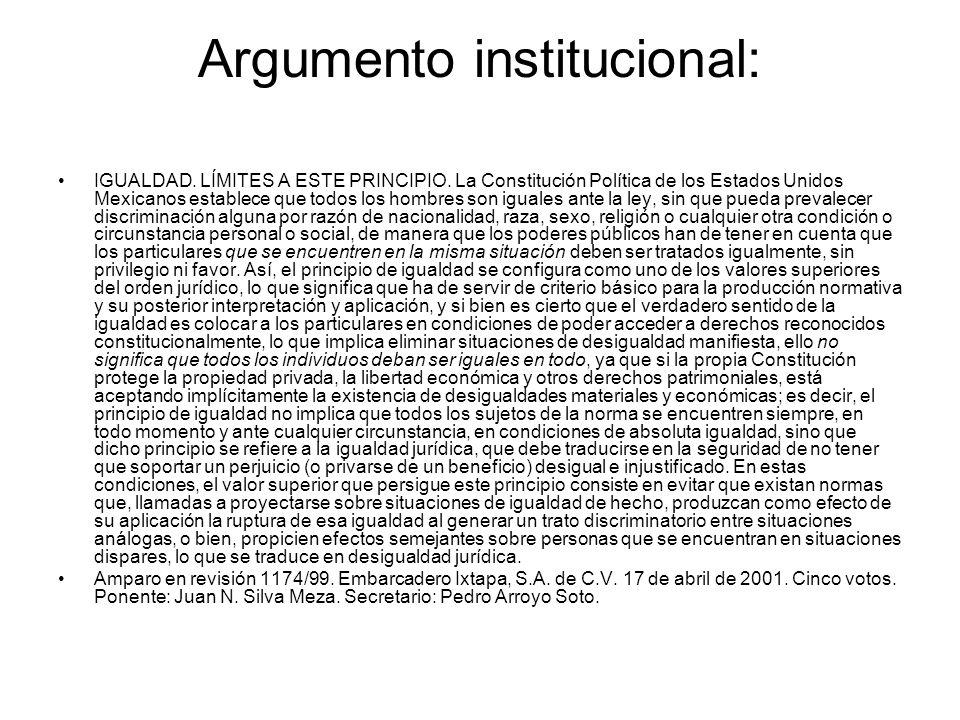 Argumento institucional: