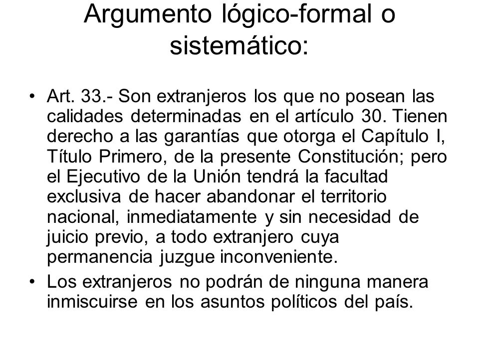 Argumento lógico-formal o sistemático: