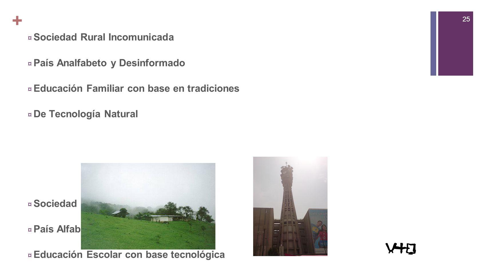 + Sociedad Rural Incomunicada País Analfabeto y Desinformado