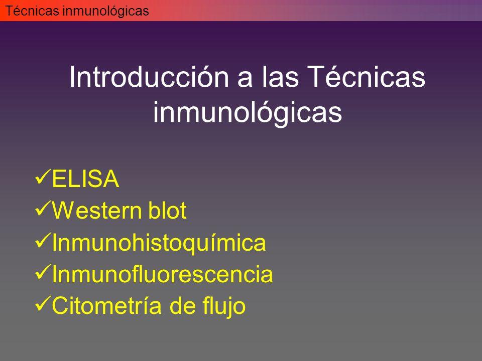 Introducción a las Técnicas inmunológicas