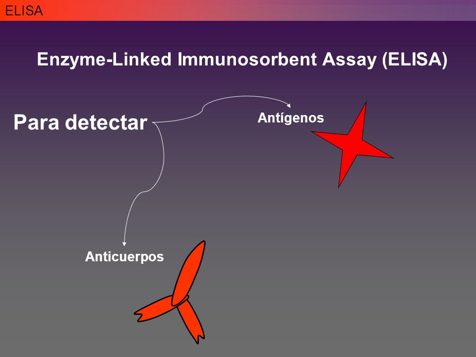 Para detectar Enzyme-Linked Immunosorbent Assay (ELISA) ELISA