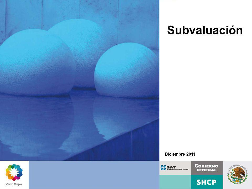 Subvaluación Diciembre 2011