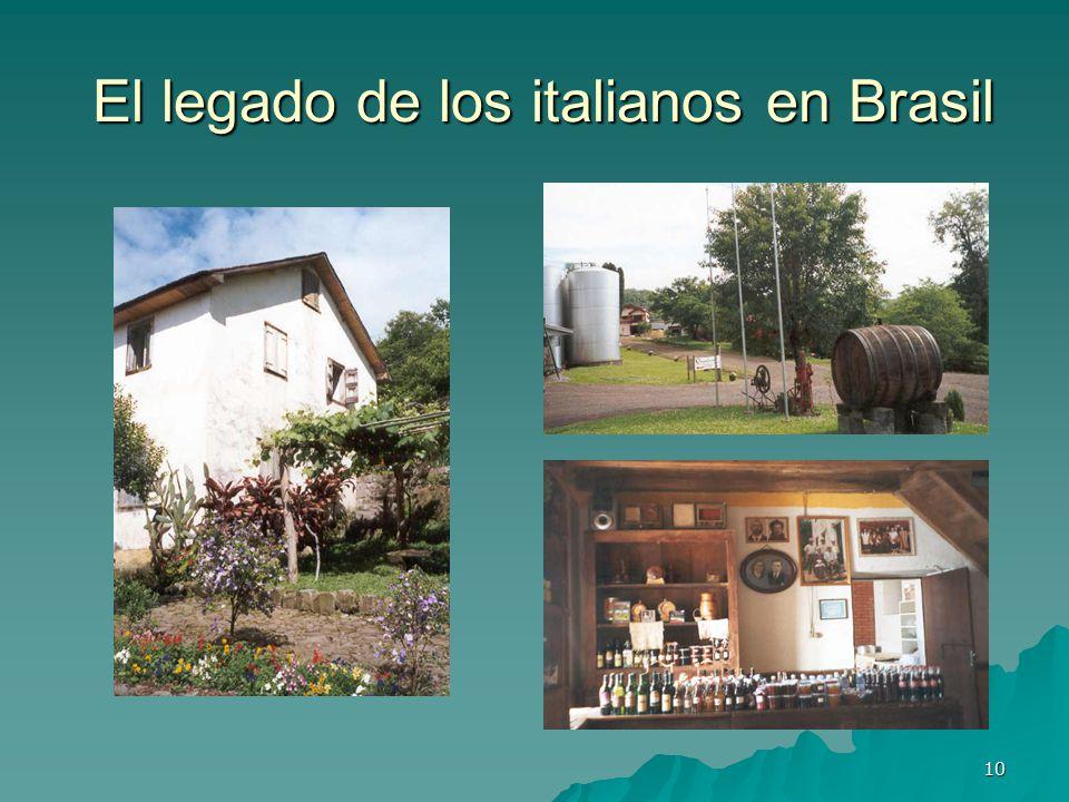 El legado de los italianos en Brasil