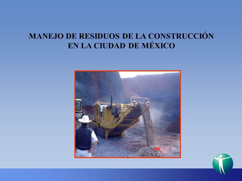 MANEJO DE RESIDUOS DE LA CONSTRUCCIÓN