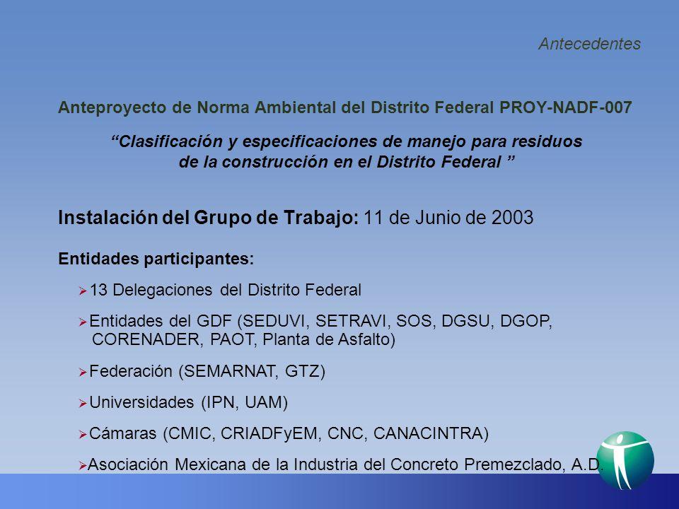 Anteproyecto de Norma Ambiental del Distrito Federal PROY-NADF-007
