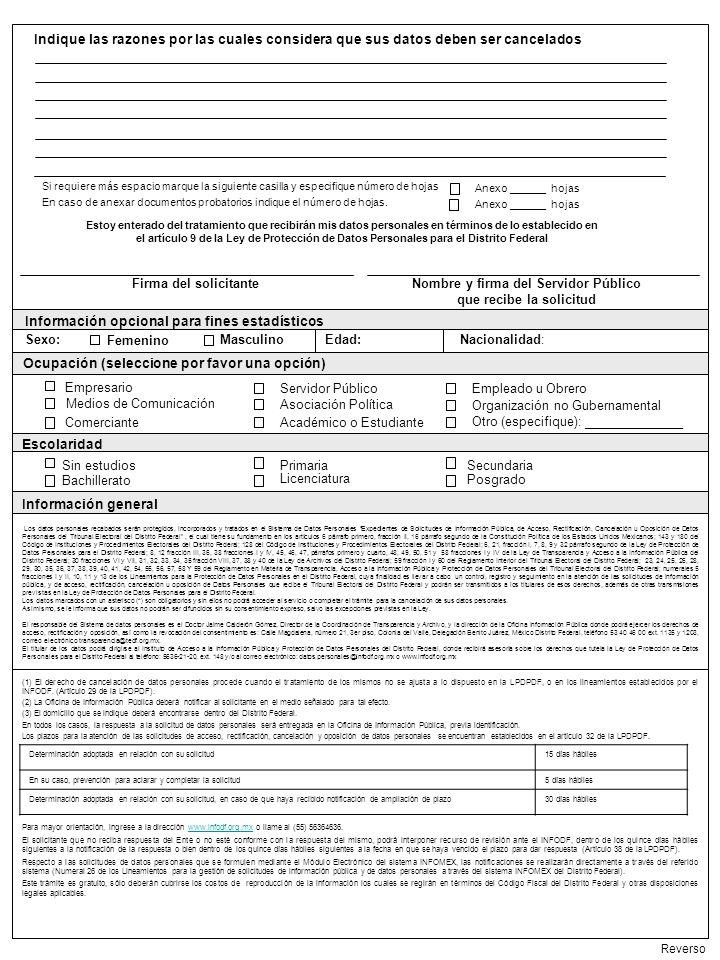 Nombre y firma del Servidor Público que recibe la solicitud
