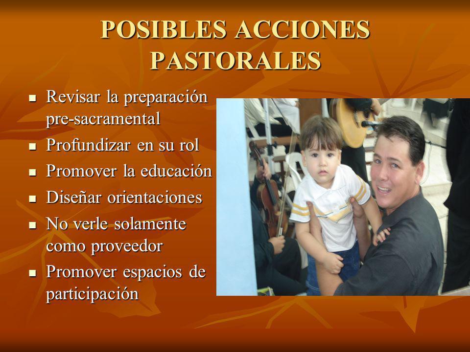 POSIBLES ACCIONES PASTORALES