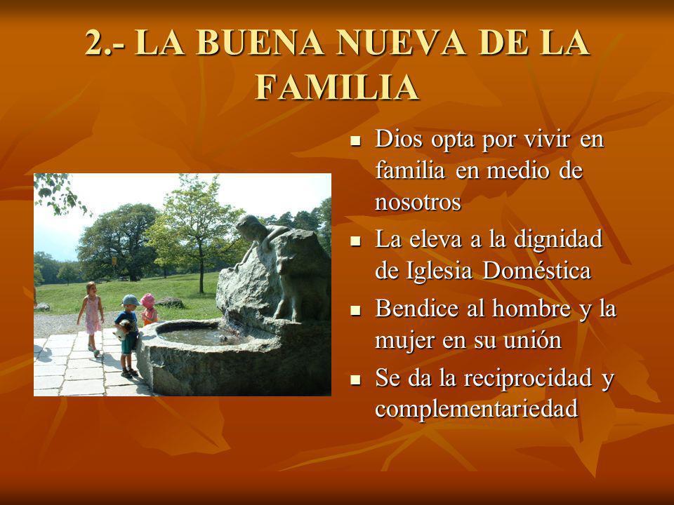 2.- LA BUENA NUEVA DE LA FAMILIA
