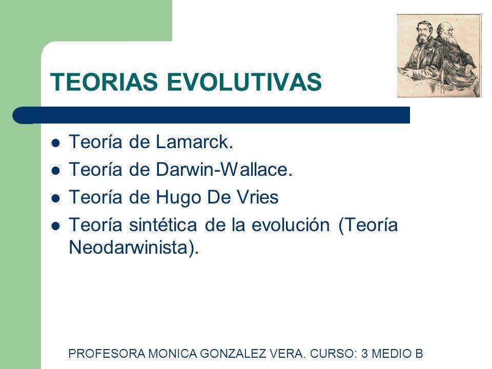 PROFESORA MONICA GONZALEZ VERA. CURSO: 3 MEDIO B