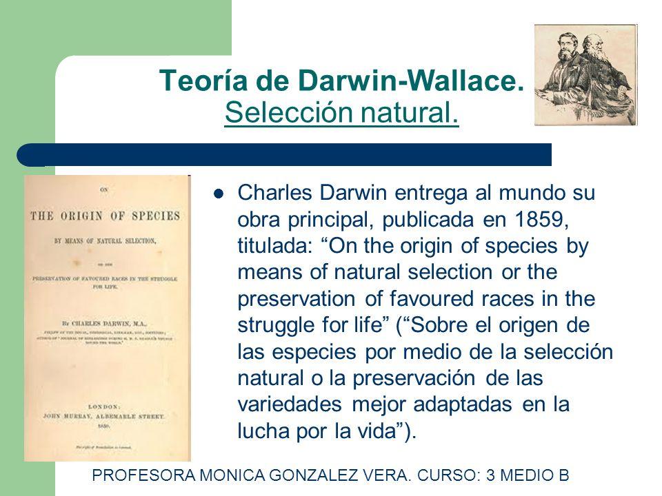 Teoría de Darwin-Wallace. Selección natural.