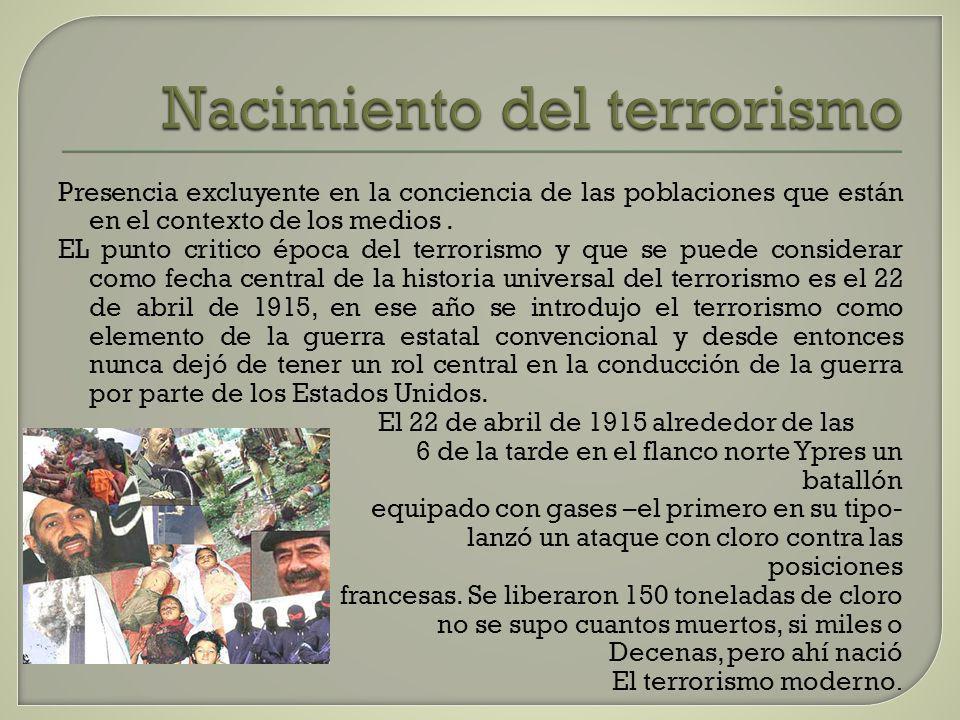 Nacimiento del terrorismo