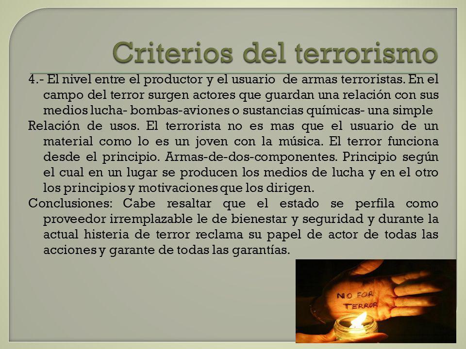 Criterios del terrorismo
