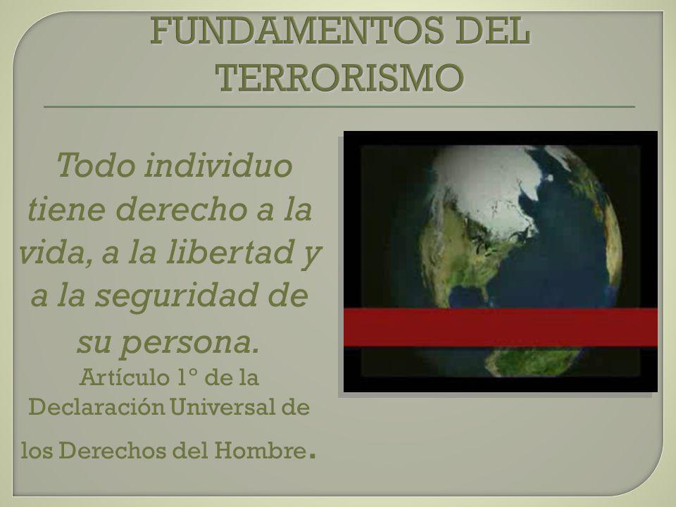 FUNDAMENTOS DEL TERRORISMO