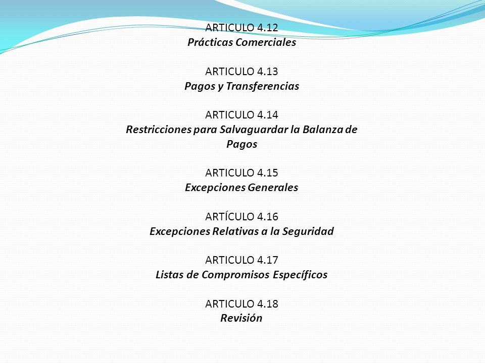 Prácticas Comerciales ARTICULO 4.13 Pagos y Transferencias