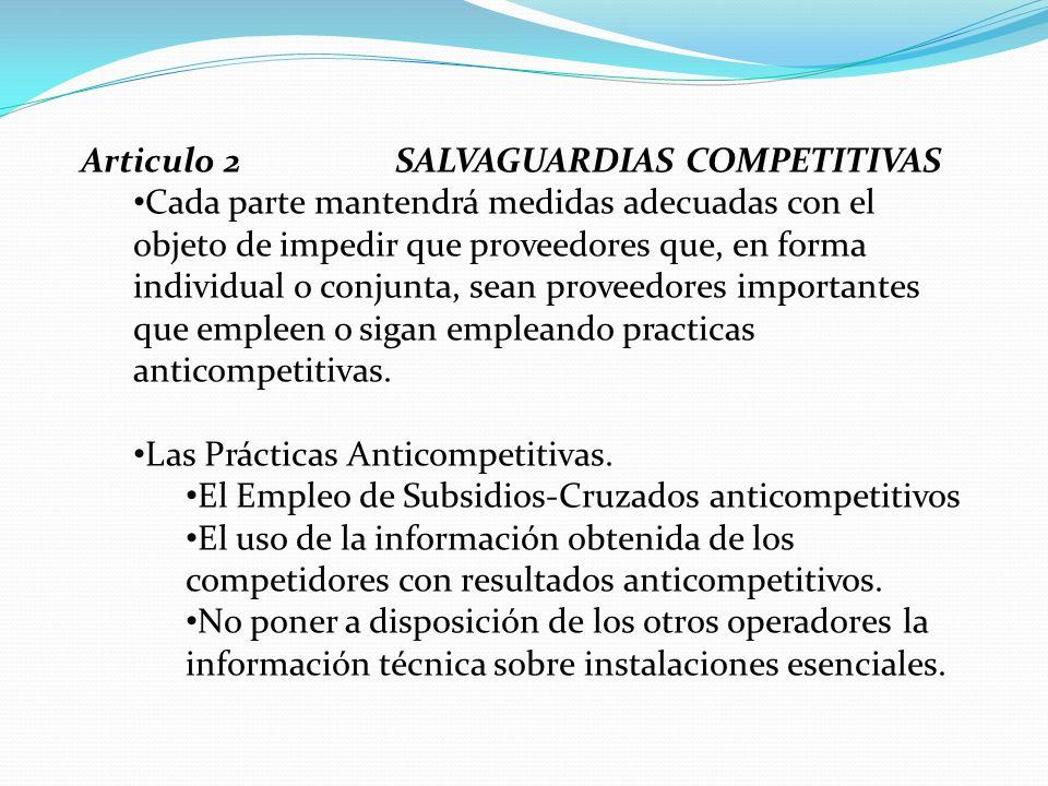 Articulo 2 SALVAGUARDIAS COMPETITIVAS