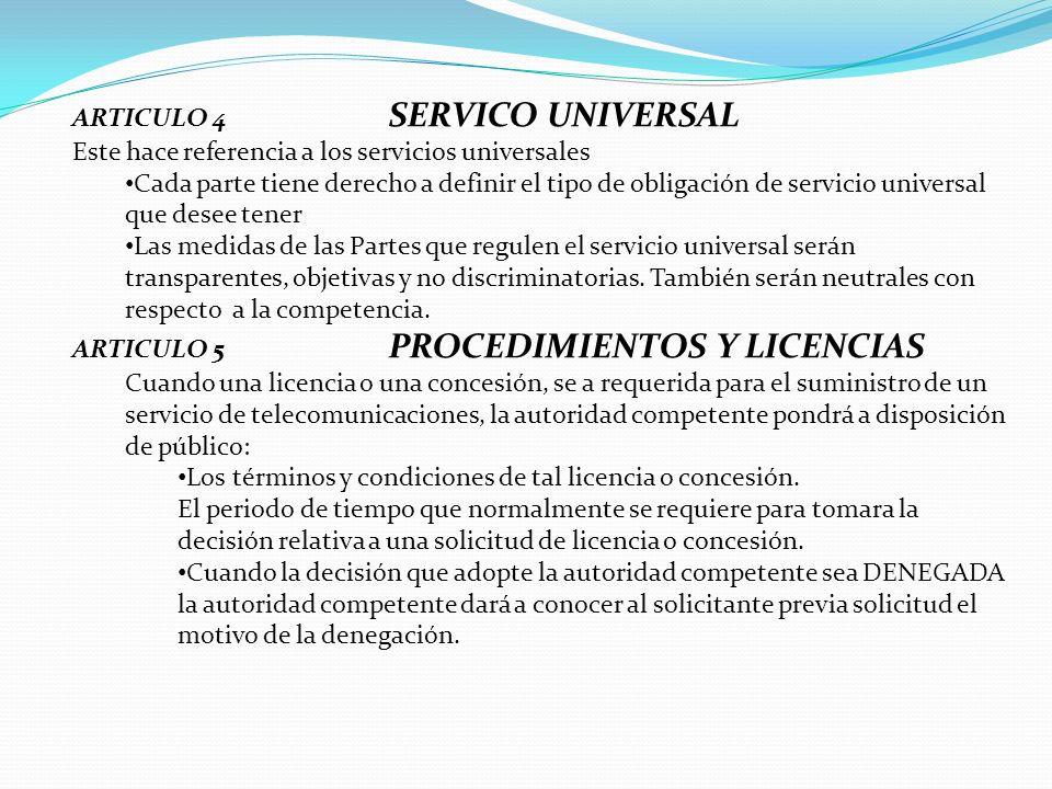 ARTICULO 4 SERVICO UNIVERSAL