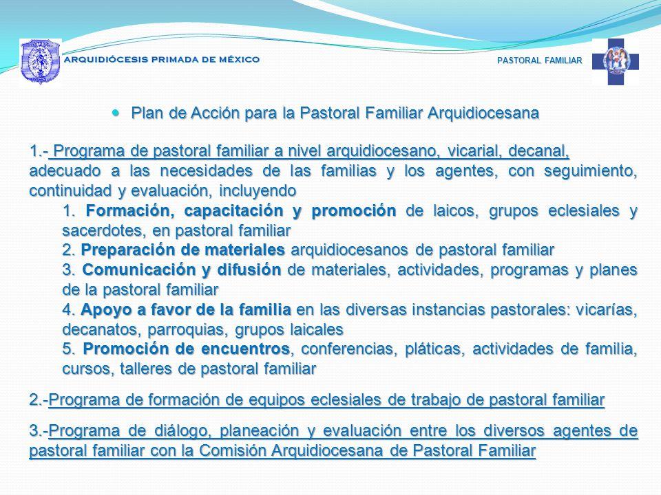 Plan de Acción para la Pastoral Familiar Arquidiocesana
