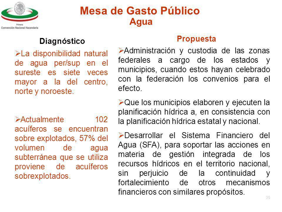 Mesa de Gasto Público Agua Propuesta Diagnóstico