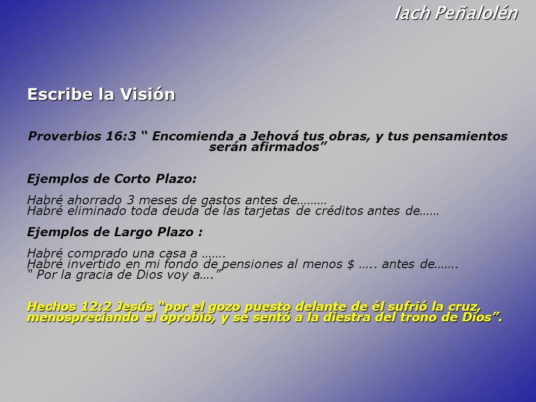 Iach Peñalolén Escribe la Visión