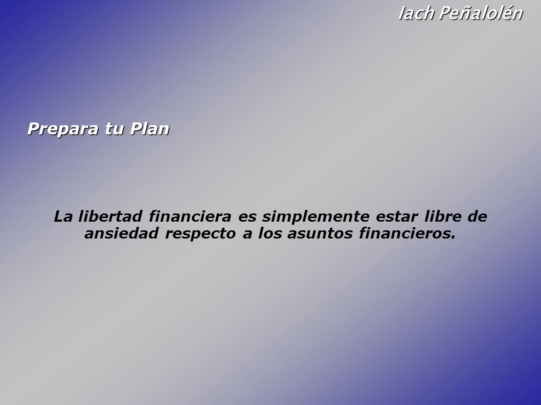 Iach Peñalolén Prepara tu Plan