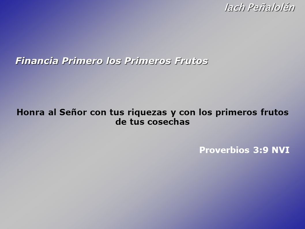 Iach Peñalolén Financia Primero los Primeros Frutos