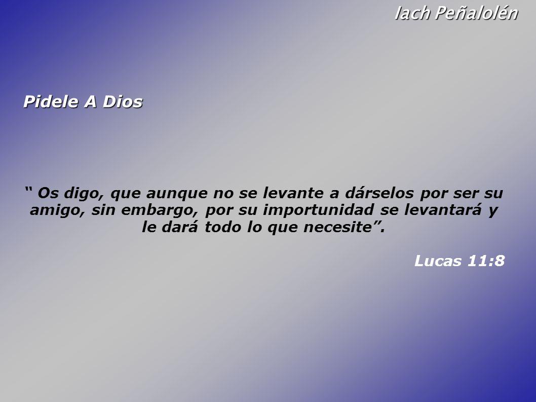 Iach Peñalolén Pidele A Dios