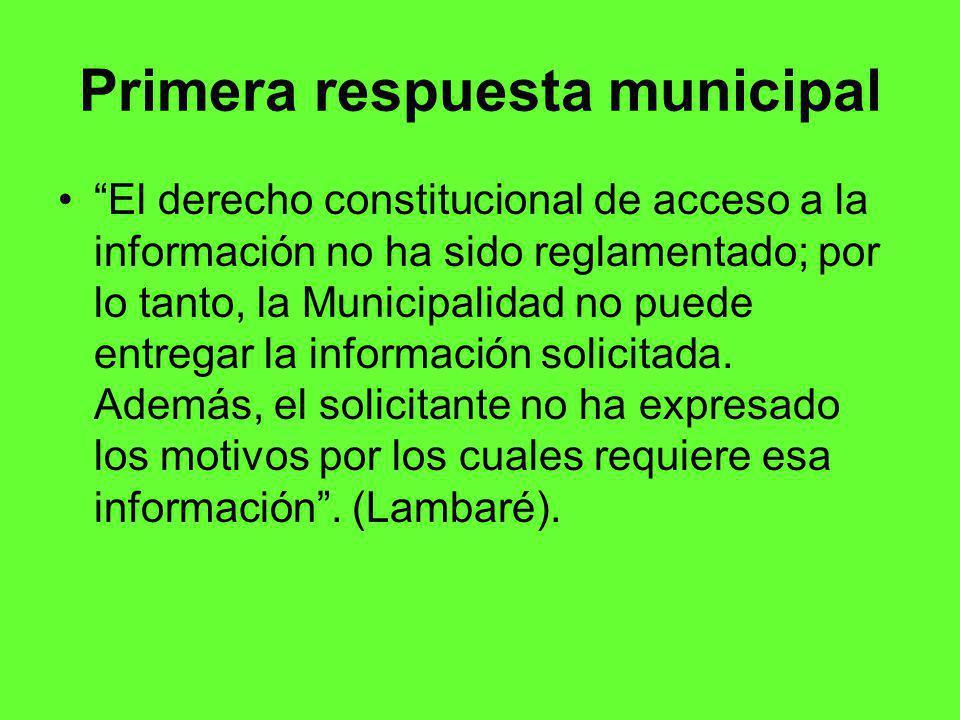 Primera respuesta municipal