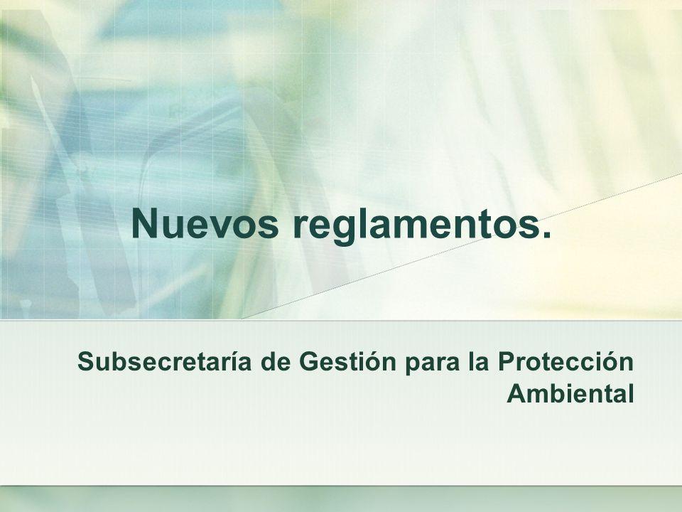 Subsecretaría de Gestión para la Protección Ambiental