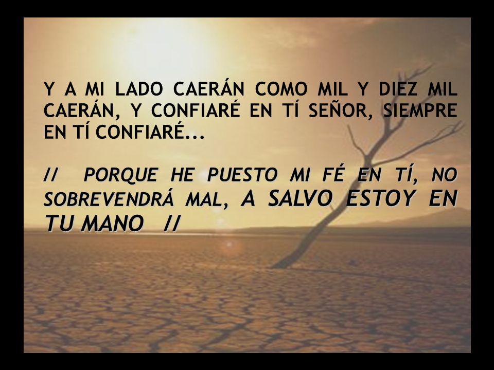 Salmo 91 (3) Y A MI LADO CAERÁN COMO MIL Y DIEZ MIL CAERÁN, Y CONFIARÉ EN TÍ SEÑOR, SIEMPRE EN TÍ CONFIARÉ...