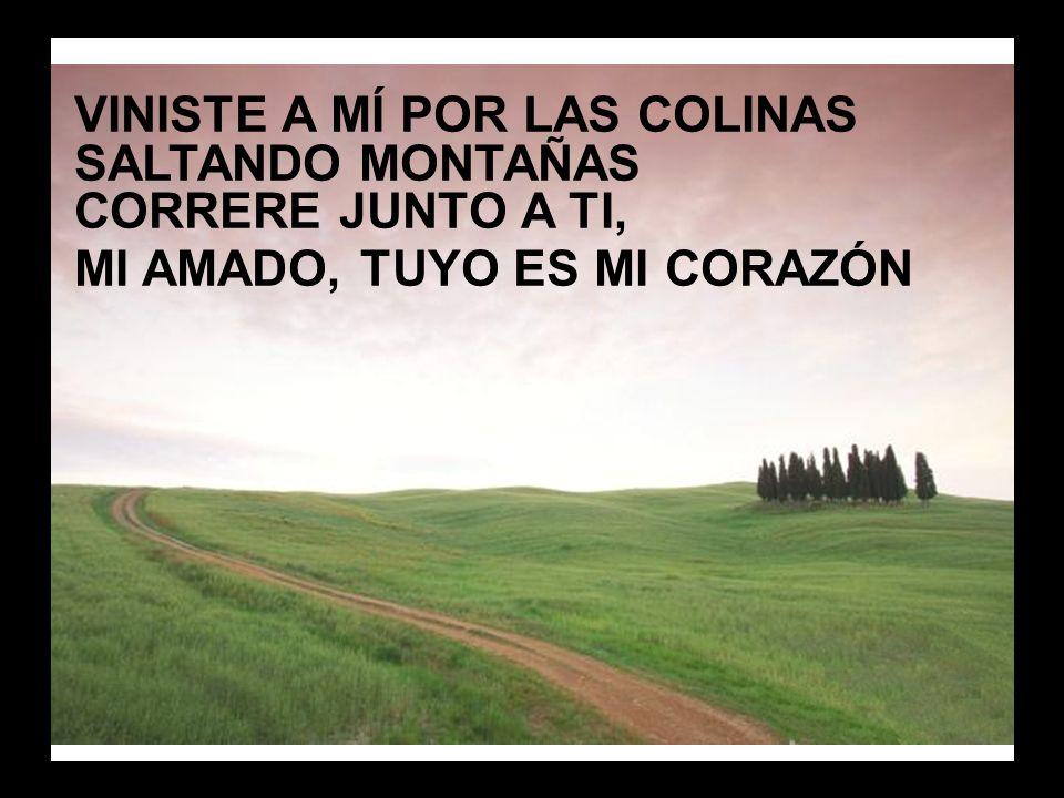 Danza conmigo (2) VINISTE A MÍ POR LAS COLINAS SALTANDO MONTAÑAS CORRERE JUNTO A TI, MI AMADO, TUYO ES MI CORAZÓN.