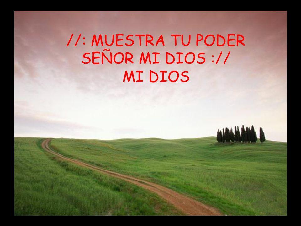 EL ES SEÑOR (MUESTRA TU PODER) II